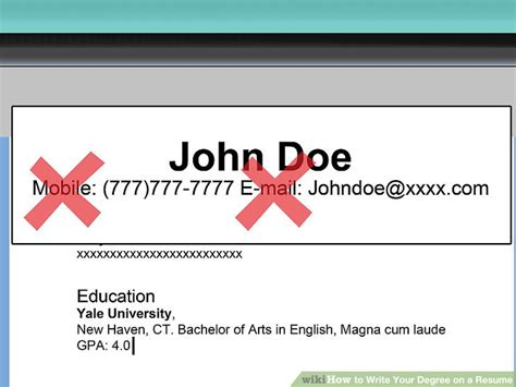 how to write your bachelor degree on a resume resume ideas