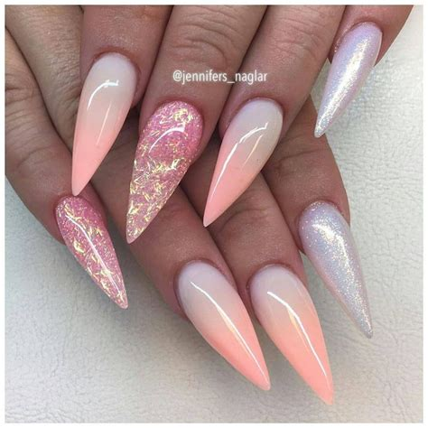 Pink Pointy Nails Designs