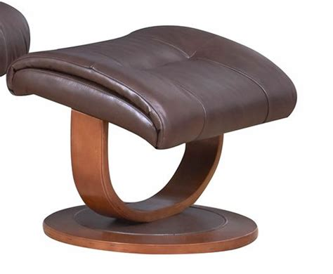 leather swivel recliner chair and stool chingford brown bonded leather swivel chair and foot stool