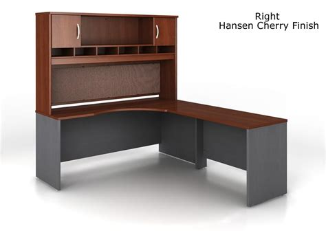 home office desk with hutch has many functions bush series c l shape desk bundle with hutch
