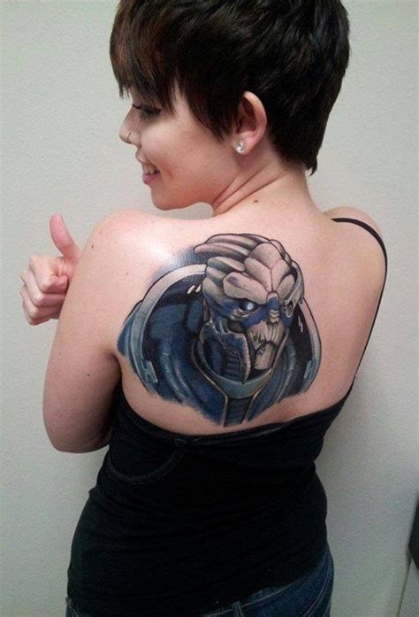 mass effect tattoo i m garrus vakarian and this is my favorite on the