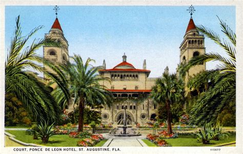 St Johns County Florida Court Records Florida Memory Court Ponce De Hotel St Augustine