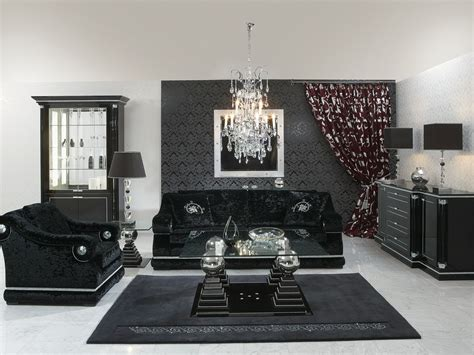 Silver Living Room Furniture Black And Silver Living Room Furniture Living Room