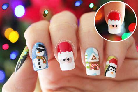 imagenes de uñas pintadas para navidad decoraci 243 n de u 241 as navidad pap 193 noel santa claus nail