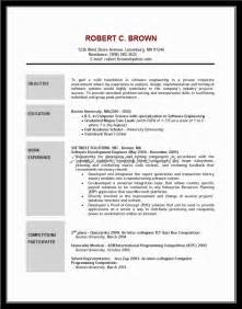Strong Resume Objective Statements by Great Resume Objective Statement Exle Document