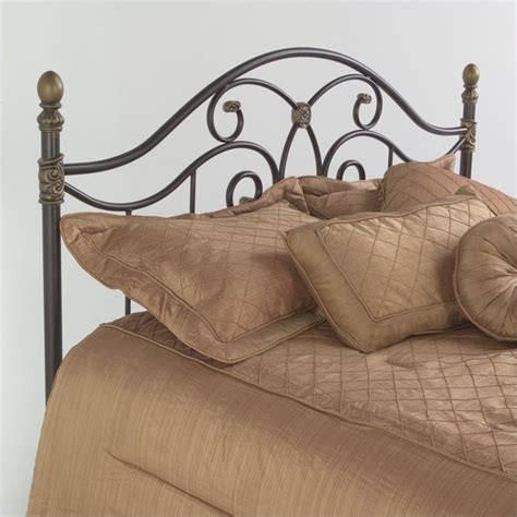 Fashion Bed Group Dynasty Metal Autumn Brown Finish Fashion Bed Headboards