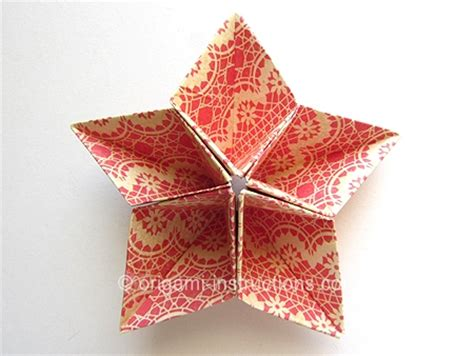 Five Pointed Origami - origami origami kusudama 5 pointed