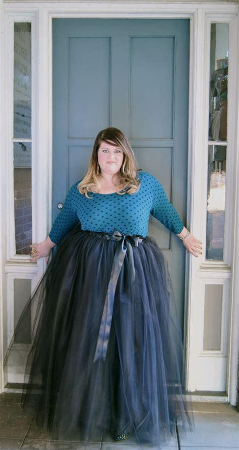 plus size floor length tulle tutu skirt by