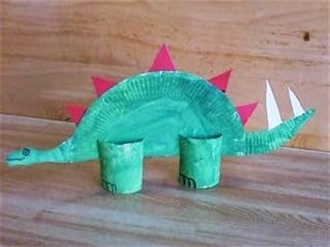 Paper Dinosaur Craft - preschool crafts for paper plate dinosaur