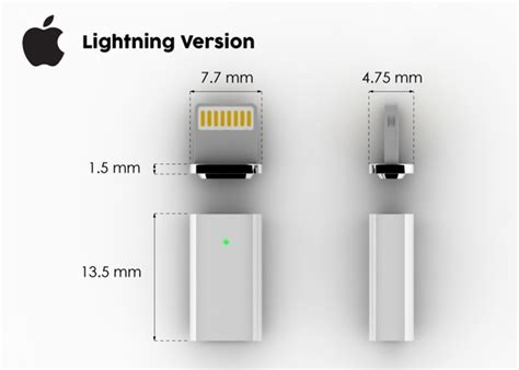 Charger Bolt Led 2 Usb Kabel znaps adds magsafe style connectivity to your lightning