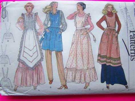 vogue pattern apron vintage vogue sewing pattern apron pinafore hippie dress