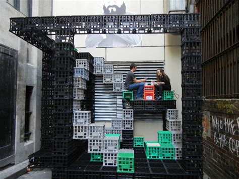 Garage Workbench Designs a playground for urban dwellers reuse of milk crates
