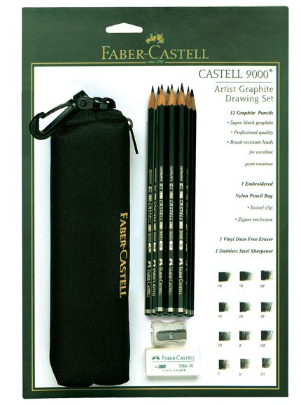 Pensil Faber Castell 9000 5b faber castell castell 9000 12 pencil bag set with eraser sharpener rex supplies