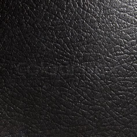 black unnatural leather texture for background stock