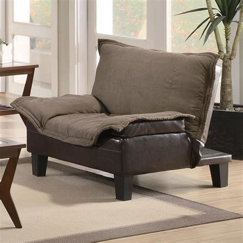 Vinyl Sofa Bed Coaster Sofa Beds And Futons 300303 Ratchet Back Chair Bed In Microfiber Vinyl Sol