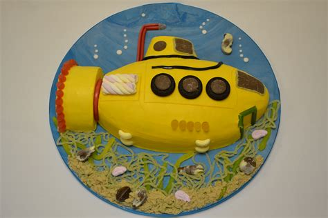 2D Buttercream Submarine Cake   Celebration Cakes   Cakeology