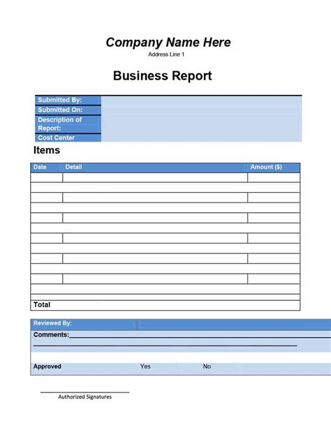 30 Business Report Templates Format Exles Template Lab Report Template