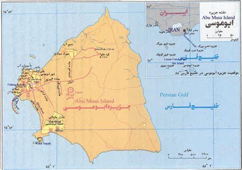 map of uae and iran abu musa kabir news
