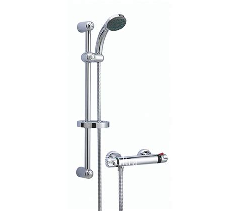 Shower On Slide Bar by Ultra Dune Thermostatic Bar Shower With Slide Rail Kit A3910