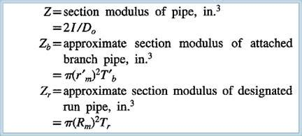 pipe section modulus 01 how are the stress indices columns z zbr zr zb