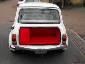 Upholstery In Austin 1987 Classic Austin Mini Advantage White Custom Leather