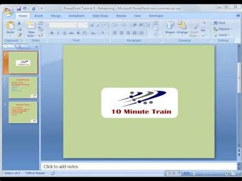 tutorial powerpoint 2007 youtube powerpoint 2007 tutorial 9 rehearse timing youtube