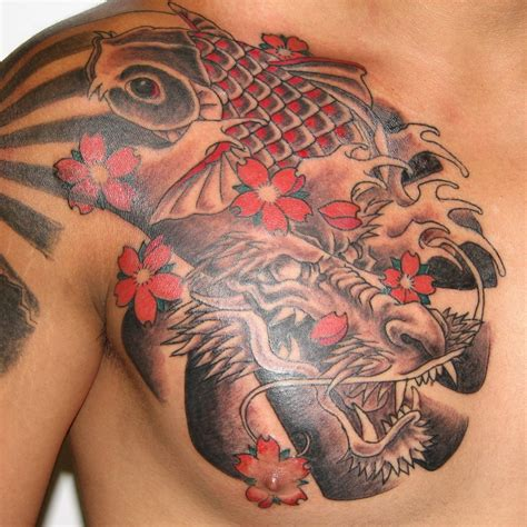 koi to dragon tattoo design best designs for live tattoos
