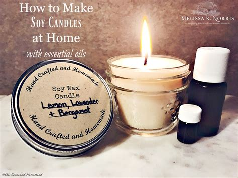 how to make soy candles at home with essential oils