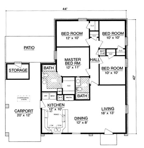 Carport Floor Plans by Small House Plans With Carports