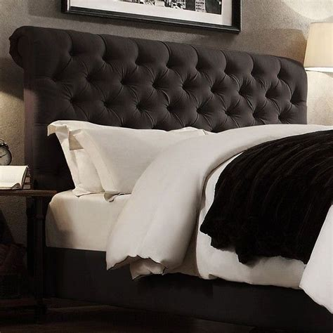 dark grey tufted headboard homevance vanderbilt button tufted headboard 540 liked