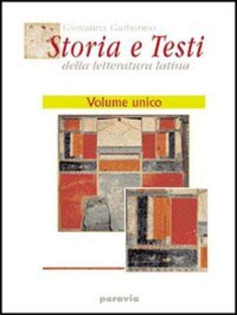 storia e testi della letteratura storia e testi della letteratura excursus sui