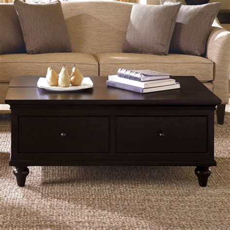 Black And Wood Coffee Table Black Wooden Coffee Table With Drawers Advice For Your Home Decoration
