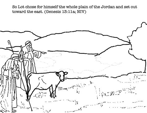 coloring page of abraham and lot lesson abram and lot children s bible school lessons