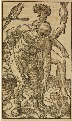 histoire dun voyage faict tupinamba men dancing jean de l 233 ry woodcut from histoire d un