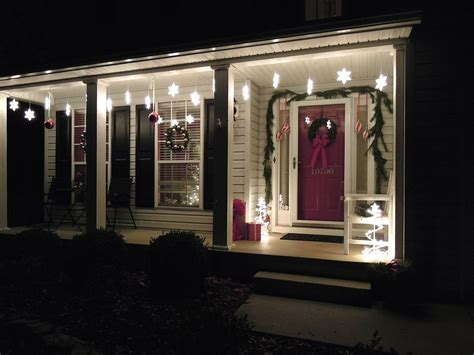 front lights on house front porch christmas light ideas outdoor snowflake lights