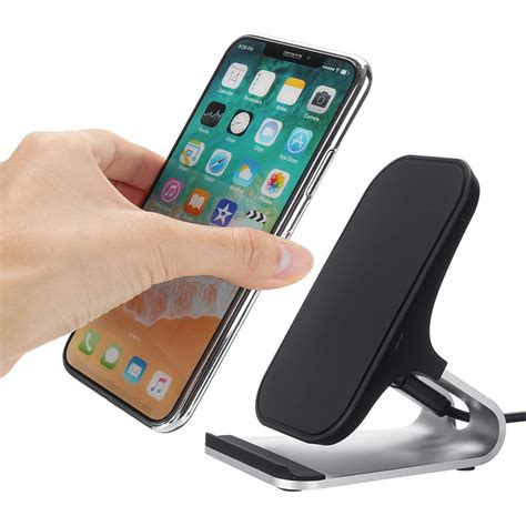 iphone qi charger qi wireless charger charging dock stand for iphone x 8 for samsung note 8 s8 s9 alexnld