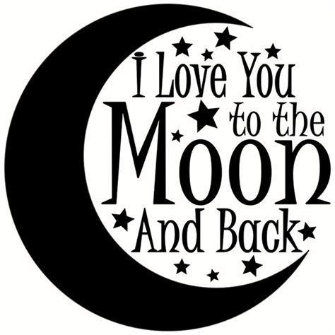 i love you to the moon and back tattoos i you to the moon and back svg cuttable designs