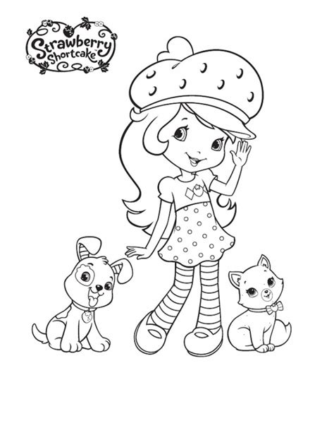 New Strawberry Shortcake Coloring Pages Printable
