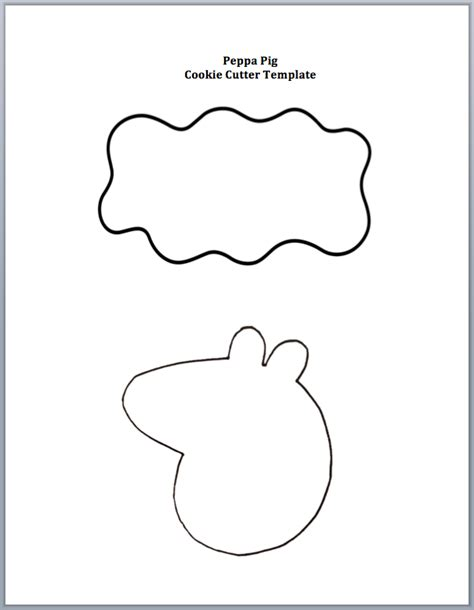 Peppa Pig Cookie Cutter Template Cookie Cutter Templates