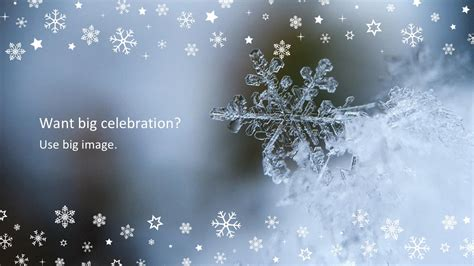 Snowflake Free Powerpoint Template Snowflake Powerpoint Template