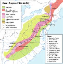 appalachian mountains canada map great appalachian valley