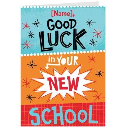 Luck Your New Card Template by Modern New School Luck Card Hallmark Uk Cards To