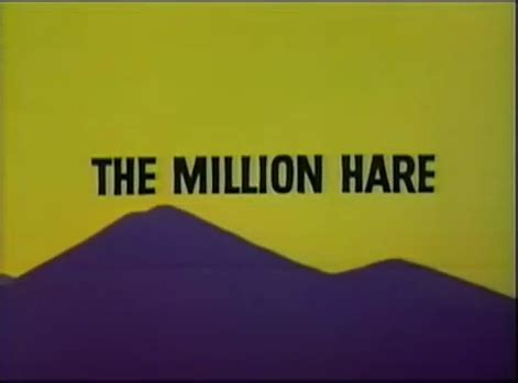 looney tunes title card template the million hare