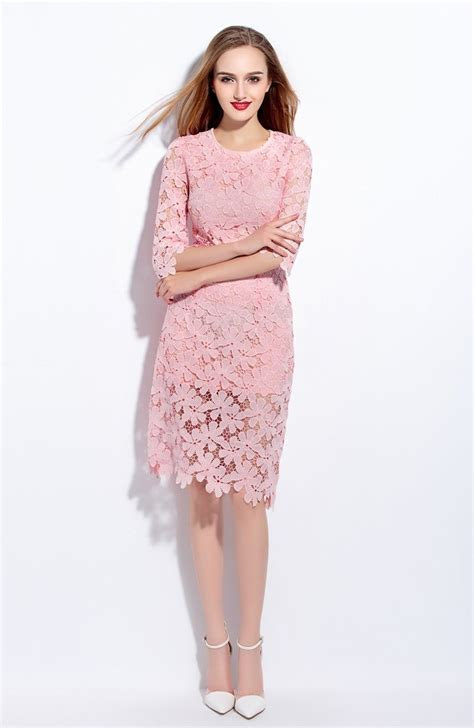 top rosa kleid mit spitze bester preis abendkleid