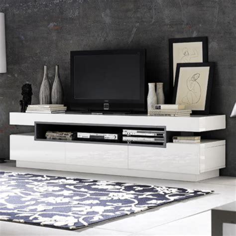 schrank wenge evoque rectangular high gloss white tv unit with grey