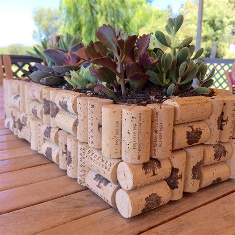 How To Make Planter by Diy Easy Cork Planter Box Beckmen Vineyards
