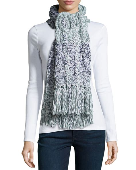 Braided Bottega Veneta Type Casing Iphone Grand Note New lyst ugg grand meadow cable fringe scarf in blue