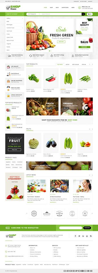 download food store woocommerce responsive theme best