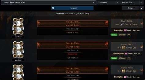 exle of trade path of exile s official trade site rock paper shotgun