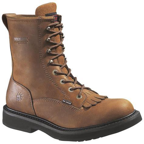 wolverine steel toe work boots for 8 quot wolverine 174 durashocks 174 outside heel steel toe eh kiltie